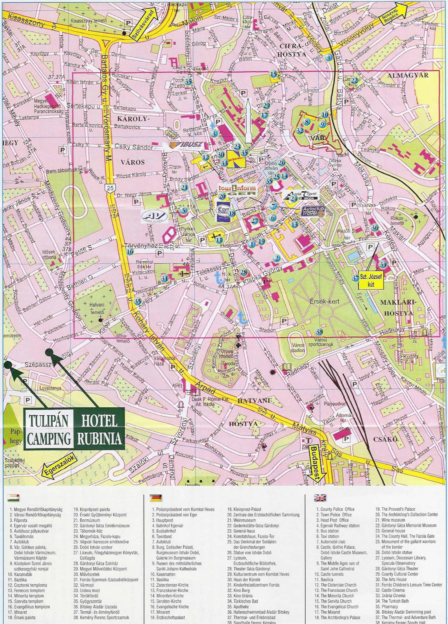 eger térkép letöltés Elérhetőségeink Tulipán Kemping eger térkép letöltés